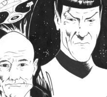 Startrek: Picard and Spock Sticker