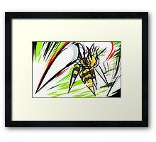 Mega Beedrill   Twineedle Framed Print