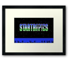 StarTropics (NES Title Screen) Framed Print