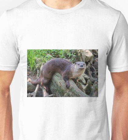 River Otter On A Log Unisex T-Shirt