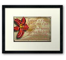 Genius Flower Framed Print