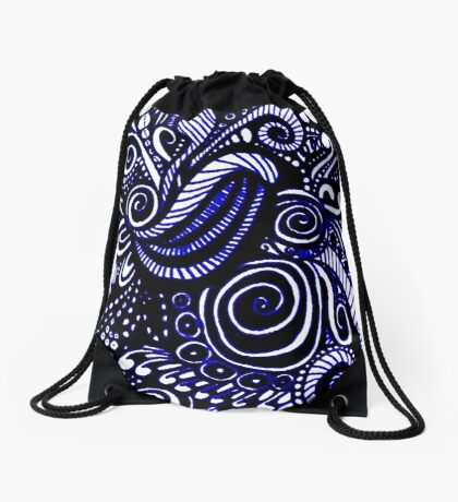 Blue Universe Drawstring Bag