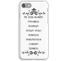 The Seven Wonders iPhone Case/Skin