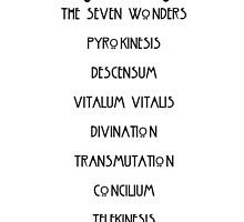 The Seven Wonders by kateysaysrelax