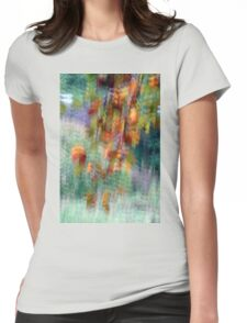Tree leaves in Peebles park Womens Fitted T-Shirt