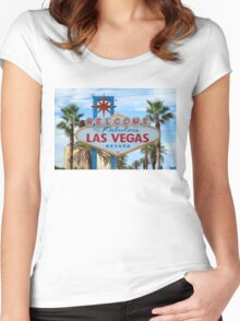 Welcome to Fabulous Las Vegas! Women's Fitted Scoop T-Shirt