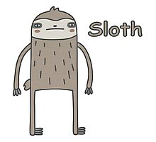 Lazy Sloth Photographic Print