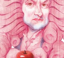 Isaac Newton illustration Sticker