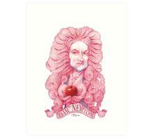 Isaac Newton illustration Art Print