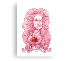 Isaac Newton illustration Canvas Print