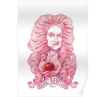 Isaac Newton illustration Poster