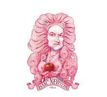 Isaac Newton illustration Photographic Print