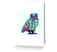 Geometric Owl  Greeting Card
