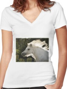Of Earth, Wind and Flame Women's Fitted V-Neck T-Shirt