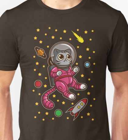 Kitty Cat in Space Unisex T-Shirt