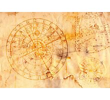 zodiac signs and astronomical clock Photographic Print