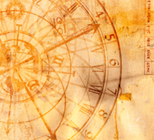 zodiac signs and astronomical clock Sticker