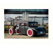 Railroad Rat Rod Art Print