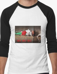 HO HO HO  Men's Baseball ¾ T-Shirt