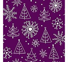Merry Christmas pattern Photographic Print