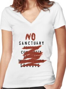 No Sanctuary Women's Fitted V-Neck T-Shirt