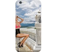 Danielle on the balcony overlooking the river . . . iPhone Case/Skin