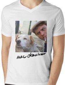 Big Mac with a dog  Mens V-Neck T-Shirt