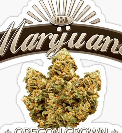 Marijuana Oregon Grown Sticker