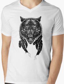 Dreamcatcher Wolf Mens V-Neck T-Shirt