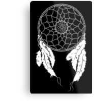 Dreamcatcher - Black Metal Print