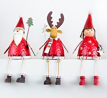 Christmas Santa, Reindeer and Fairy Ornaments by Sue Martin