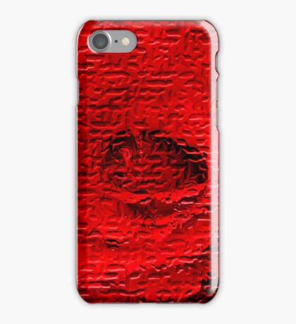 Floral abstract study in red iPhone Case/Skin