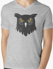 Owl Dark Mens V-Neck T-Shirt