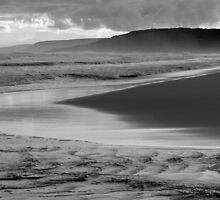 Waitpinga- Meeting of the Waters (B&W) by Ben Loveday