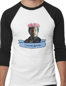 cassian andor flower crown sticker Men's Baseball ¾ T-Shirt