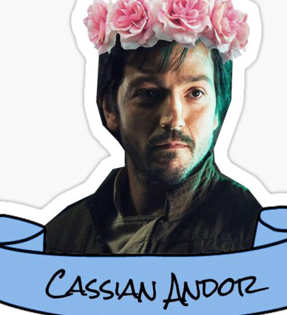cassian andor flower crown sticker Sticker