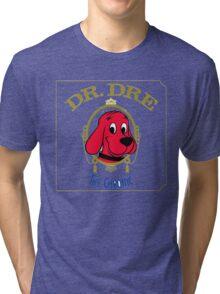 Clifford the Big red dog 2001 Dr Dre the Chronic  Tri-blend T-Shirt
