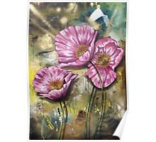 Finding Beauty in Chaos Series:  Pink Poppies Poster