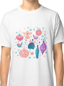 Christmas Baubles Seamless Pattern Classic T-Shirt