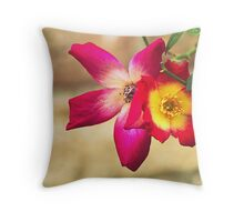 roses in the garden Throw Pillow