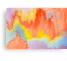 Hand-Painted Abstract Watercolor Sunset in the Rain Canvas Print
