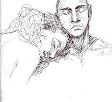 Couple Sketch by ShesscaMayWiver