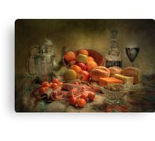 Lunch !  ( still life ) Canvas Print