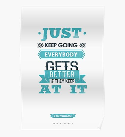 Just Keep Going Poster