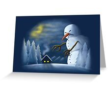 On One Cold Winter Night Greeting Card