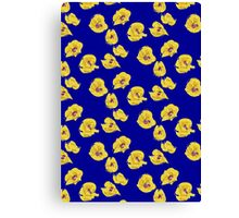 yellow and blue poppies Canvas Print