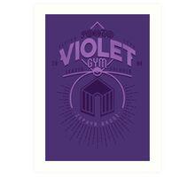 Violet Gym Art Print