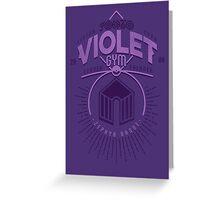 Violet Gym Greeting Card