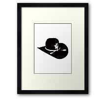 SHERIFF HAT Framed Print