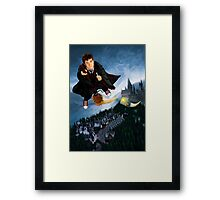 time and space traveller lost in the wizard World Framed Print